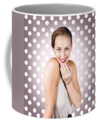Attractive Young Retro Girl With Look Of Surprise Coffee Mug