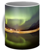Aurora Borealis Over Nares Lake Coffee Mug