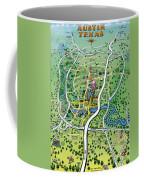 Austin Texas Cartoon Map Coffee Mug