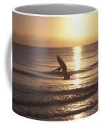 Australian Pelican Glides At Sunrise Coffee Mug