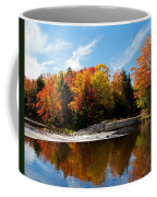 Autumn At The Lock And Dam Coffee Mug
