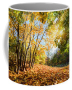 Autumn Fall Landscape In Forest Coffee Mug