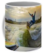 Autumn Wake Surfing Coffee Mug