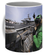 Aviation Boatswain's Mate Signals Coffee Mug by Stocktrek Images