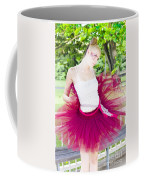 Ballerina Stretching And Warming Up Coffee Mug