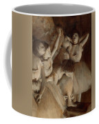 Ballet Rehearsal On Stage Coffee Mug by Edgar Degas
