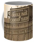 Baltimore Orioles Park At Camden Yards Coffee Mug by Frank Romeo