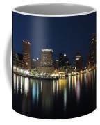 Baltimore Skyline At Dusk On The Inner Harbor Coffee Mug