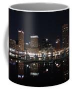 Baltimore Skyline At Night Coffee Mug