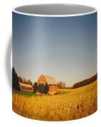 Barn And Corn Field Coffee Mug