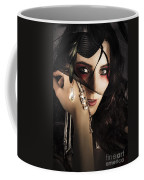 Beautiful Female Fashion Model In Luxury Jewellery Coffee Mug