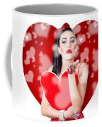 Beautiful Girl In A Bright Love Romance Coffee Mug