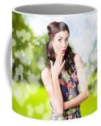 Beautiful Valentines Day Woman. Cosmetic Love Coffee Mug