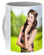 Beauty Girl. Beautiful Young Woman With Clean Skin Coffee Mug