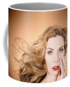 Beauty Portrait. Beautiful Woman And Long Red Hair Coffee Mug