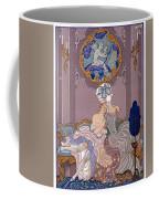 Bedroom Scene Coffee Mug by Georges Barbier