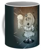 Beer Stein Dirndl Oktoberfest Cartoon Woman Grunge Monochrome Coffee Mug