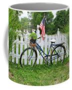 Bicycle And White Fence Coffee Mug