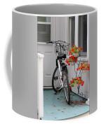 Bicycles And Geraniums Coffee Mug
