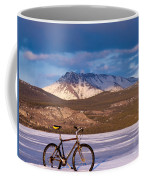 Bike On Frozen Lake Laberge Yukon Canada Coffee Mug