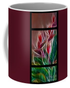Bird Of Paradise Fractal Coffee Mug by Peter Piatt