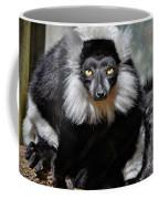 Black And White Ruffed Lemur Coffee Mug