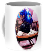 Black Cat With One White Whisker Coffee Mug