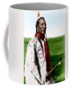 Blackfoot Man With Braided Sweet Grass Ropes Coffee Mug