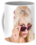 Blond Woman In Sunglasses Coffee Mug