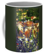 Blue Flowers And Rooftops In Sarlat Coffee Mug