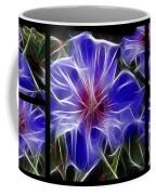 Blue Hibiscus Fractal Coffee Mug