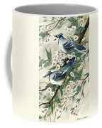 Blue Jays And Blossoms Coffee Mug