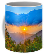 Blue Ridge Parkway Late Summer Appalachian Mountains Sunset West Coffee Mug