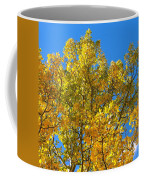 Blue Skies And Golden Aspen Trees Coffee Mug