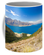 Blue Surface Of Lake Hawea In Central Otago In New Zealand Coffee Mug