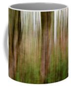 Blurred Trees Coffee Mug