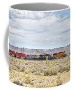 Bnsf 9112 Westbound From Boron Coffee Mug