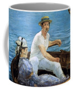 Boating Coffee Mug by Edouard Manet