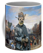 Border Terrier Art Canvas Print Coffee Mug