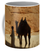 Bou Bou Camel With Beduin Owner  Coffee Mug
