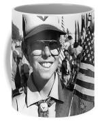 Boy Scout Veteran's Day Parade Tucson Arizona 1990 Black And White Coffee Mug