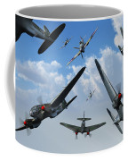 British Supermarine Spitfires Attacking Coffee Mug