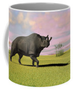 Brontotherium Grazing In Prehistoric Coffee Mug by Kostyantyn Ivanyshen