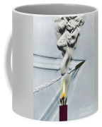 Bullet Shot Through Candle Flame Coffee Mug by Science Source