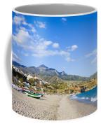 Burriana Beach In Nerja Coffee Mug