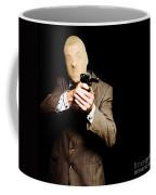 Business Man Or Corporate Crook Holding Gun Coffee Mug