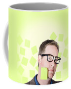 Busy Business Man With Lots Of Errands. Hard Work Coffee Mug