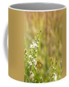 Butterfly In A Field Of Flowers Coffee Mug