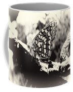 Butterfly In Black And White  Coffee Mug