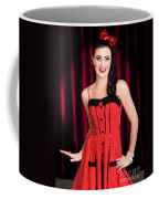 Cabaret Show Girl Performer In The Stage Spotlight Coffee Mug